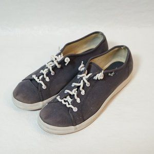 Keds Flat Sneakers Blue and White Twirly Laces (9)